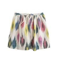Girls' watercolor ikat skirt