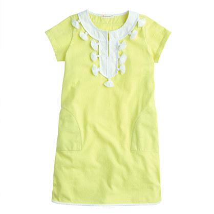 Girls' tassel dress