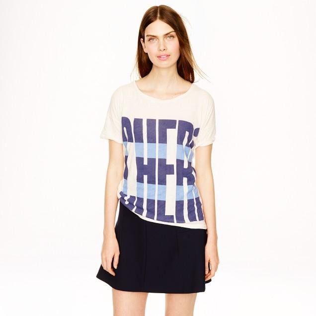 Drapey T-shirt in cheri