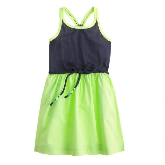 Girls' racerback tank dress