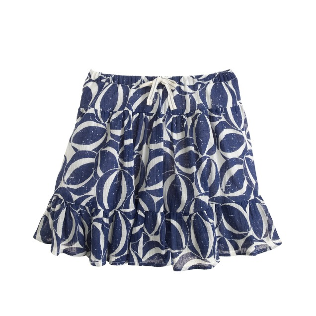 Girls' gauze skirt in beach ball print