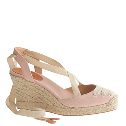 Sardinia ankle-wrap wedge espadrilles