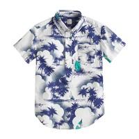 Boys' short-sleeve popover in sailboat print