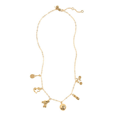 Girls' sports charm necklace