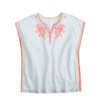 Girls' embroidered-stripe tunic