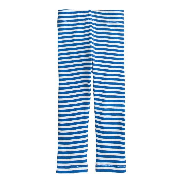 Girls' everyday capri leggings in stripe