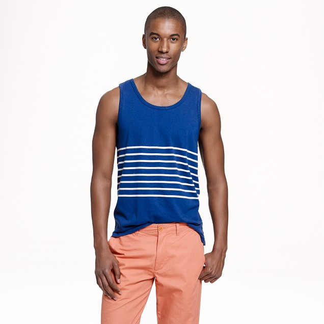 Tank in blue stripe