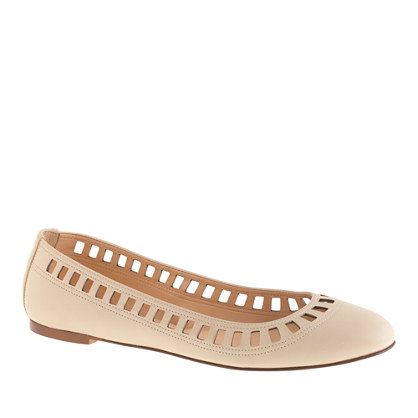 Sale alerts for J.CREW Nora leather lattice ballet flats - Covvet