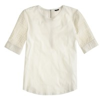 Eyelet back-zip T-shirt