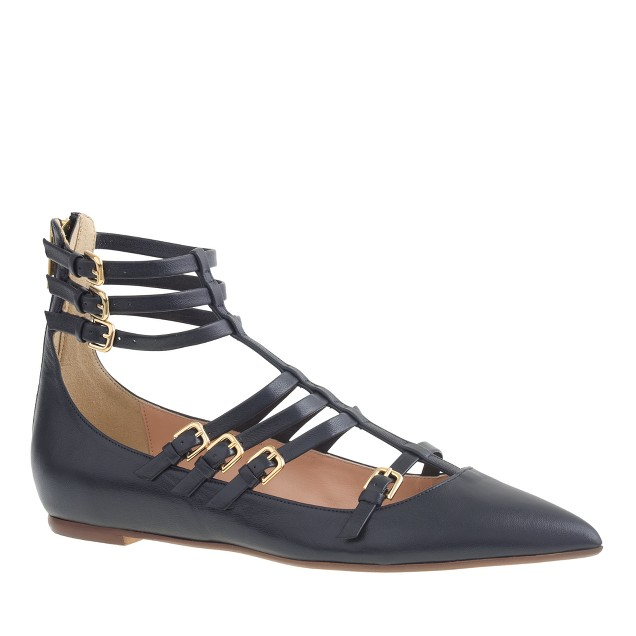 T-strap cage flats