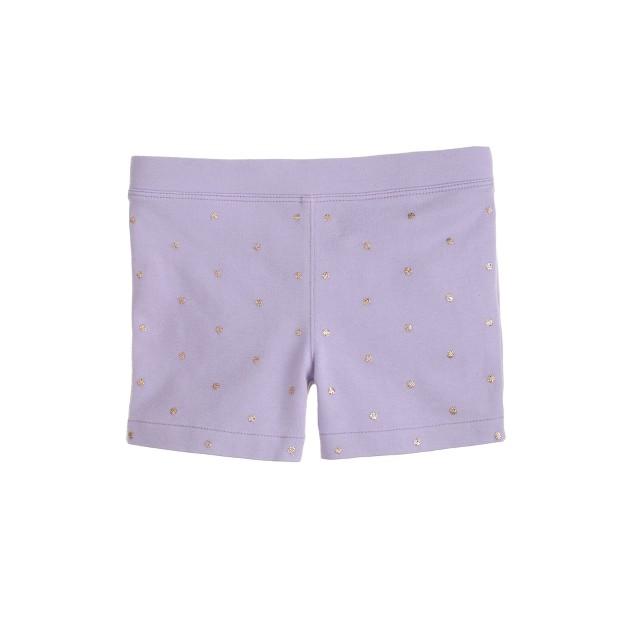 Girls' tumble short in glitter
