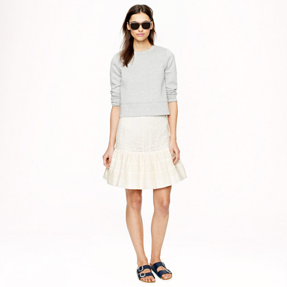 Collection eyelet flounce skirt