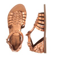 Girls' metallic gladiator sandals