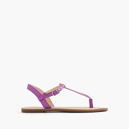 Girls' neon T-strap sandals