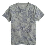 Pocket T-shirt in palm print
