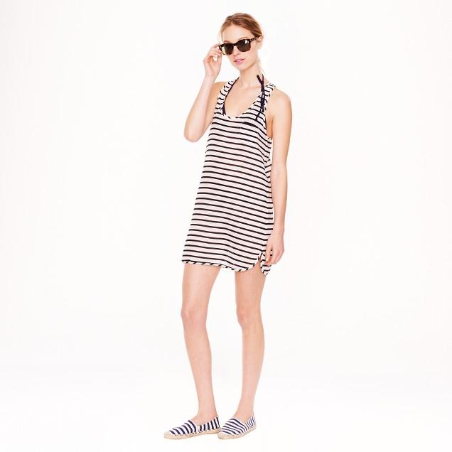 Gauze tank dress in stripe