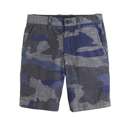 Boys' Stanton short in camo chambray