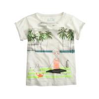 Girls' Olive yoga T-shirt