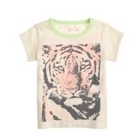 Girls' tiger T-shirt