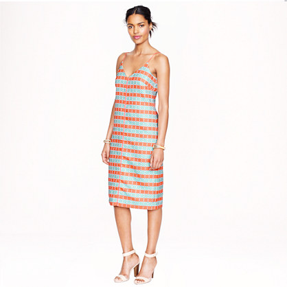 Collection diamond stripe shift dress