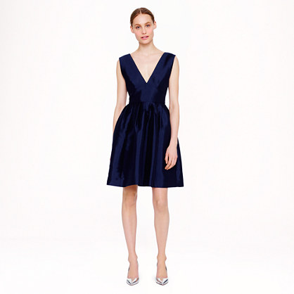 Collection pleated twill dress