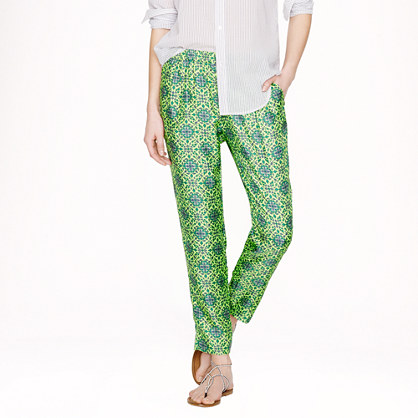 Collection cropped pant in medallion floral