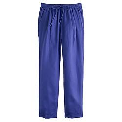 Petite linen drapey drawstring pant