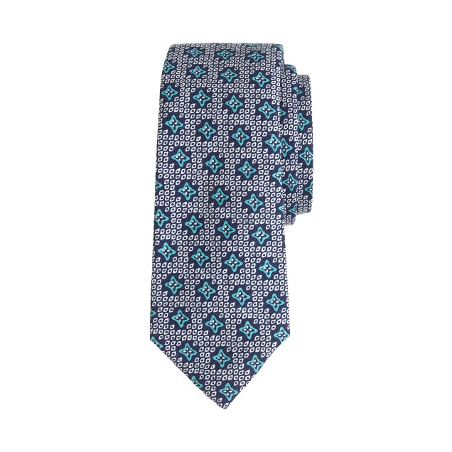 Boys' cotton tie in foulard