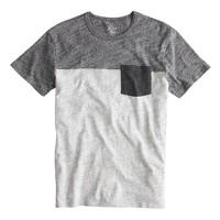 Slim flagstone pieced pocket T-shirt