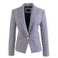 Collection shawl-collar blazer in cobalt jacquard