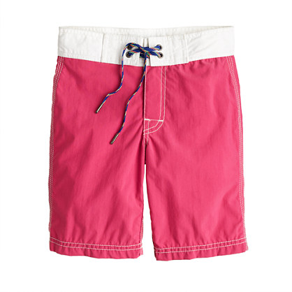 Boys' board short in two-tone