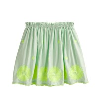 Girls' embroidered neon floral skirt