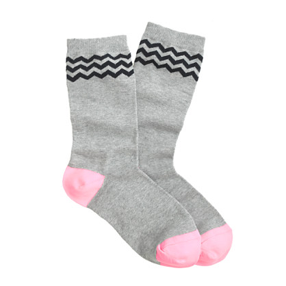 Triple chevron socks