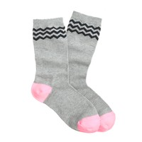 Triple chevron socks