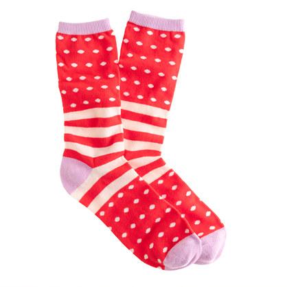 Stripe and dot trouser socks