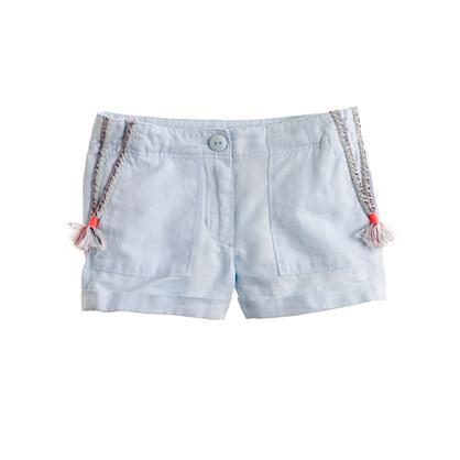 Girls' tassel short