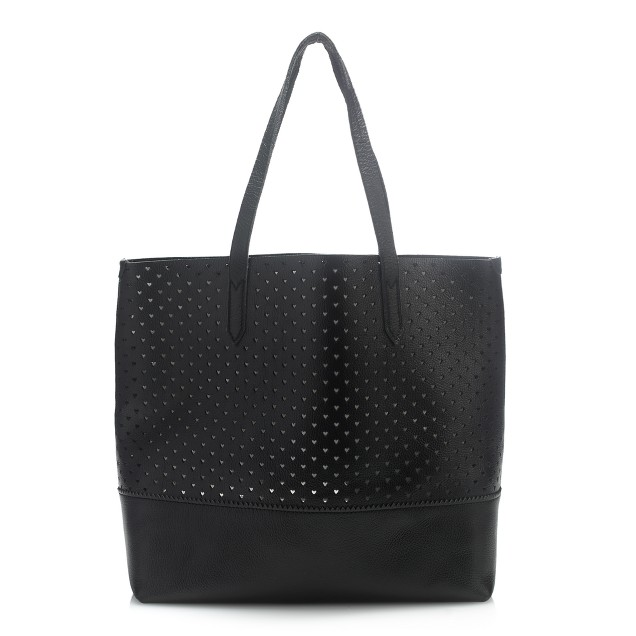 Downing tote in perforated hearts