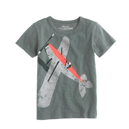 Boys' vintage plane tee