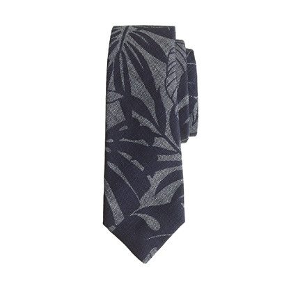 Boys' printed chambray tie