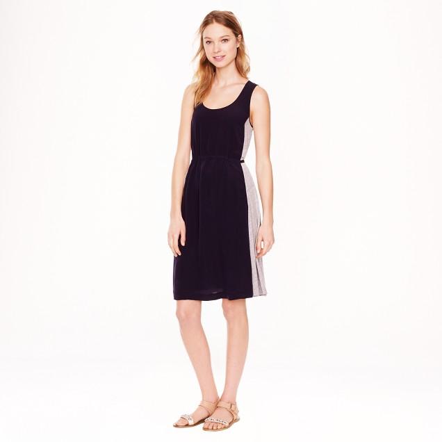 Paneled knit dress