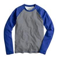 Stripe-front sun shirt
