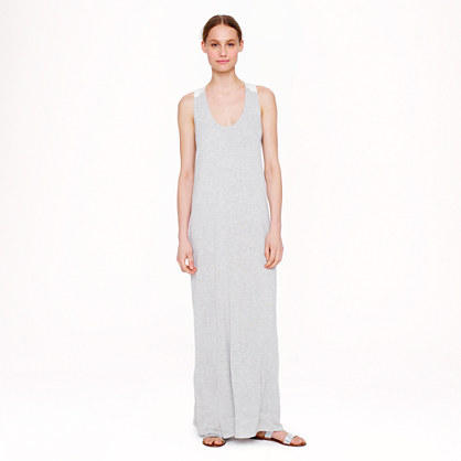 Silk-strap maxidress