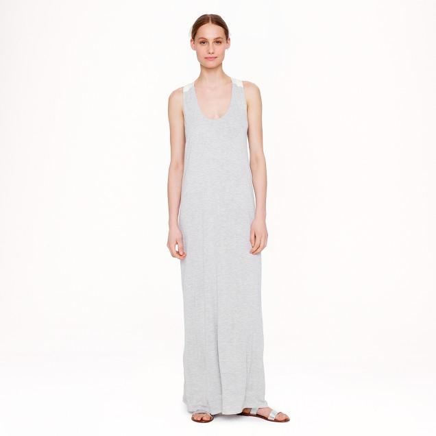 Silk-strap maxidress