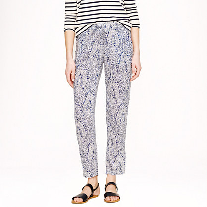 Drapey beach pant in bell floral