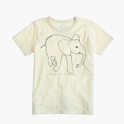 Kids' crewcuts for David Sheldrick Wildlife Trust elephant T-shirt