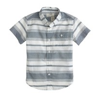 Boys' short-sleeve shirt in faded stripe