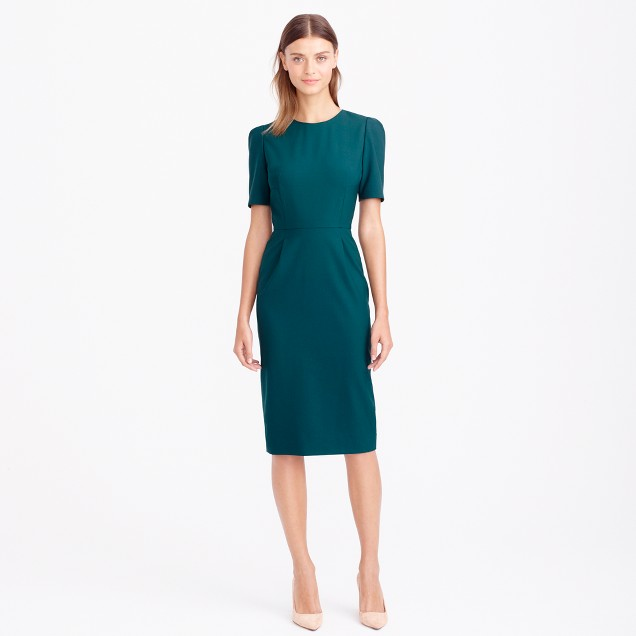 Kelsey dress in Italian stretch wool