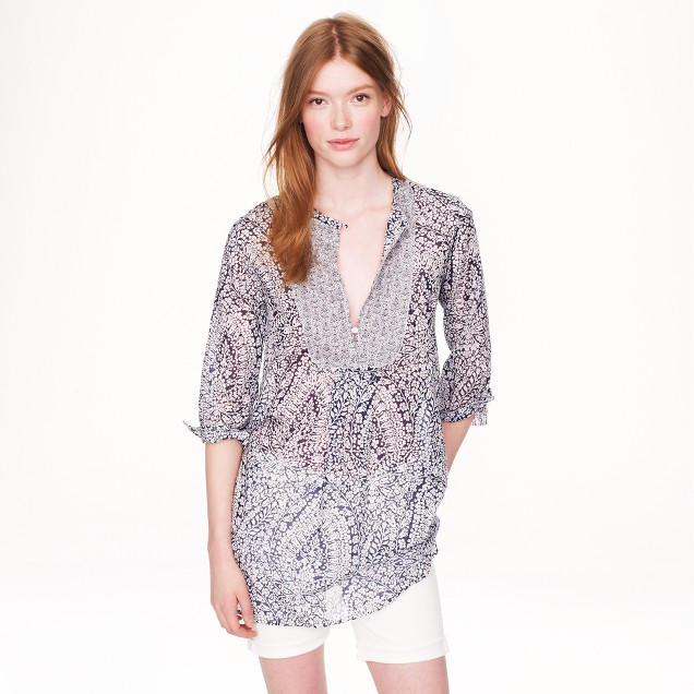 Bib tunic in bell floral