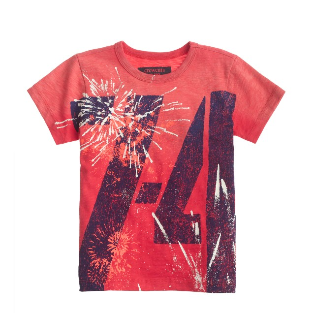Boys' glow-in-the-dark fireworks tee