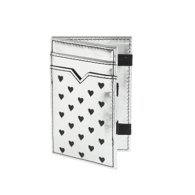 Metallic leather magic wallet